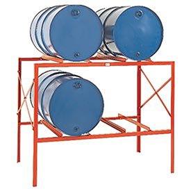 Meco Rack (Meco Drum Storage Racks - 4 Drums - Orange)