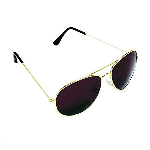 Aviator Pacific Sunglasses Coast (Classic Aviator Sunglasses For Women or Men UV400 Gold Tone Frame)