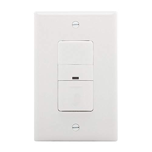 EATON Wiring OS306U-W 600W Wall Mount Occupancy Vacancy Sensor, White