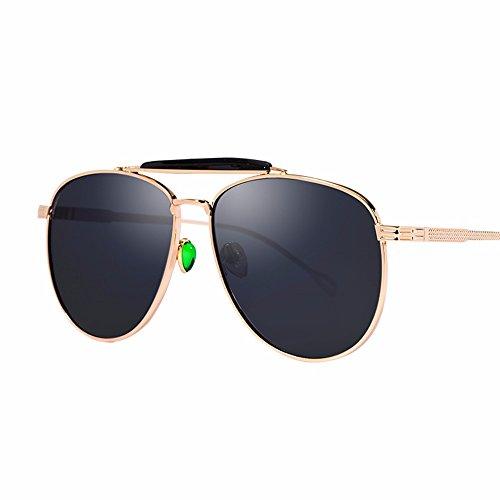 gafas de Negro púrpura reflectante metal sol color de XIAOGEGE fresco gafas mujer Las de y sol BxPZw5