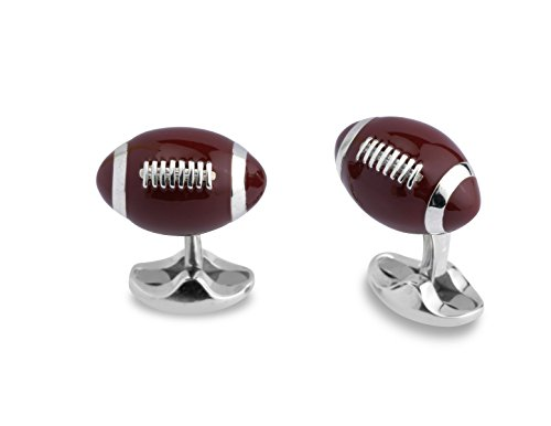 Deakin & Francis Sterling Silver American Football Cufflinks by Deakin and Francis