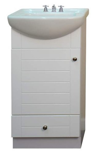 small bathroom vanity cabinet and sink white pe1612w new petite vanity amazoncom - Bathroom Cabinets Small