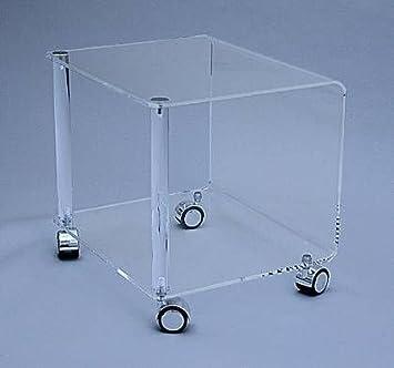 Rollwagen Acryl Plexiglas Tisch Acrylglas Beistelltisch Warewerte