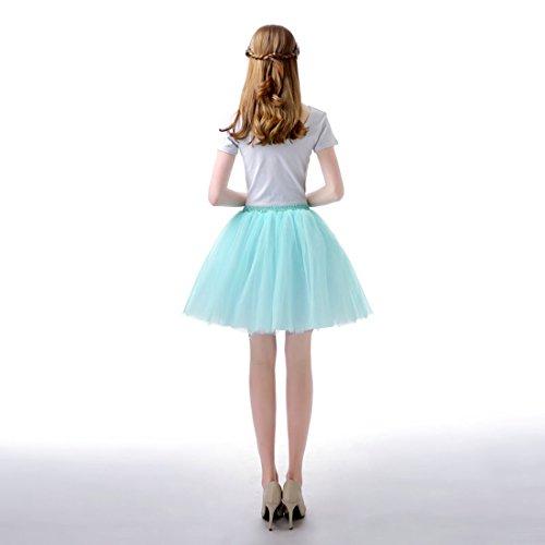 unique en Taille Bleu Tulle Spectacle Feoya lastique Ballet 95 Tutu Courte Jupe 60 Jupon Skirt CM Tutu Danse Femme 5AwHOx