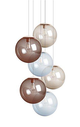 Fatboy® Spheremaker   Hängelampe   6 Lampen   2X Light Blue / 2X Taupe /