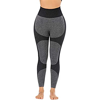 RUNNING GIRL Women Butt Lift Seamless Yoga Leggings High Waisted Tummy Control Workout Leggings Compression Skinny Tights: Clothing
