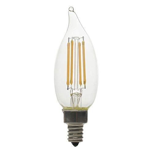 (GE Basic 12-Pack 60 W Equivalent Dimmable Warm White Ca10 LED Light Fixture Light Bulbs Decorative Candelabra)