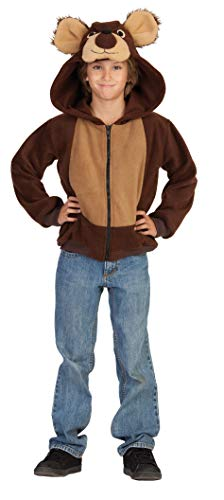 RG Costumes 40575-S Funsies' Bailey Bear Hoodie, Child Small/Size 4-6, Brown