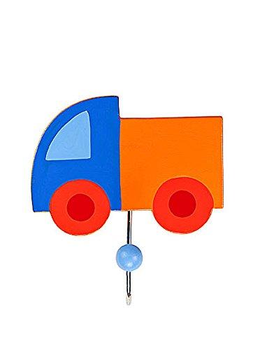 Attaccapanni e appendini gancio per vestiti singolo di colore blu e arancione a forma di furgone per la cameretta o la stanza da letto di un bambino Mousehouse Gifts MH-100343