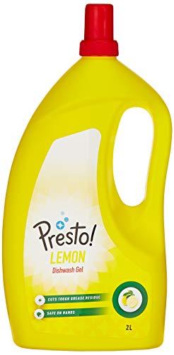 Amazon Brand – Presto! Dish Wash Gel – 2 L (Lemon)