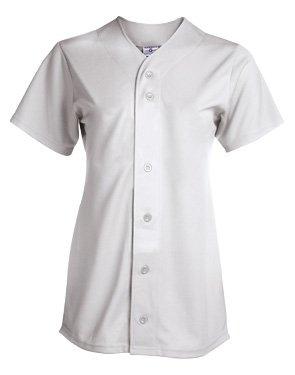 Women's Champion Full Button Jersey (Womens Racerback Softball Jersey)