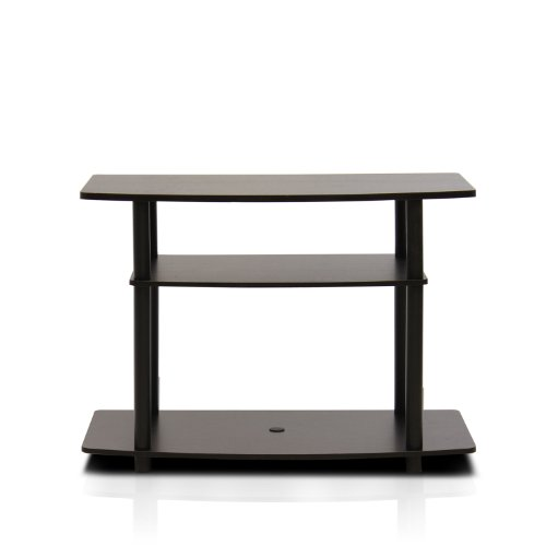 Furinno 13192DBR/BK Turn-N-Tube No Tools 3-Tier TV Stand, Da