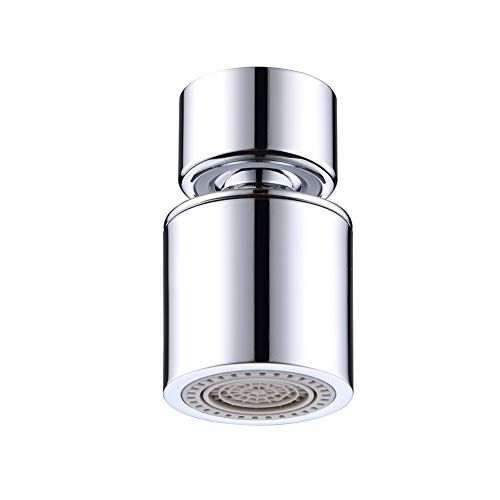 (Dual-function Faucet Aerator with 360-Degree Swivel, 55/64 Inch - 27UNS Female Thread, Chrome)