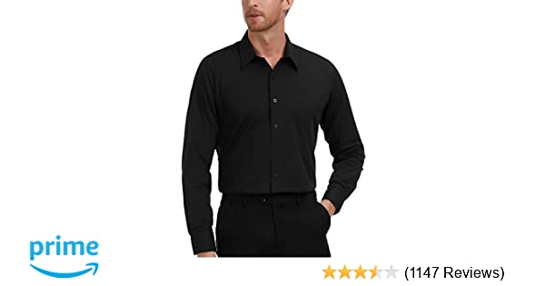 7b93b6aff7a PAUL JONES Men's Business Casual Long Sleeves Dress Shirts at Amazon Men's  Clothing store: