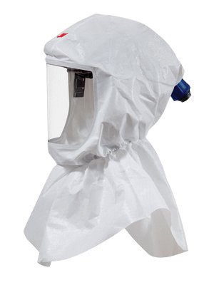 3M Standard Polypropylene S-Series Versaflo White Hood Assembly With Inner Collar And Premium Head Suspension (For Use With Certain 3M Powered Air Purifying And Supplied Air Respirator (Standard Supplied Air Respirator)
