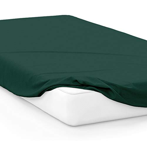 University Twin Sheet Set - American Pillowcase College Dorm Twin XL Bed Fitted Mattress Sheet Ultra Soft Hypoallergenic Wrinkle-Free, Stain, and Fade Resistant - Green 3435