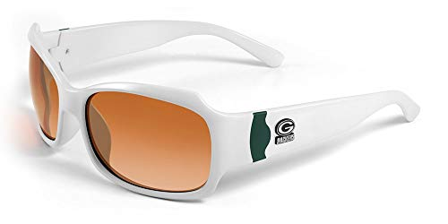 NFL Green Bay Packers Bombshell Sunglasses with Bag, White/Green