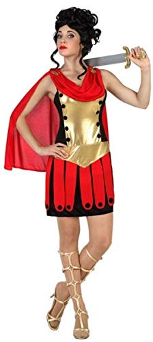 Ladies Sexy Red Gold Roman Gladiator Carnival Halloween