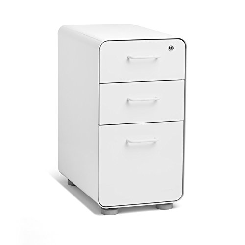 Poppin White Slim Stow 3-Drawer File Cabinet by Poppin