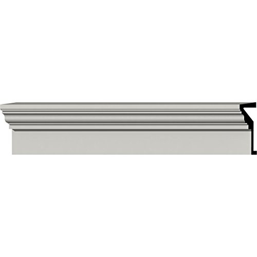 Ekena Millwork CRHM09X96TR Fascia Header, Factory Primed White (Factory Headers)