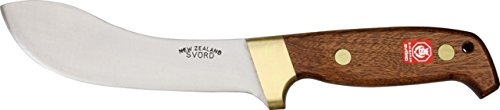 Svord Deluxe Curved Skinner Fixed Knife, 10.5in., Varnished sapele mahogany handle