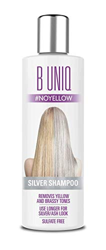 Purple Shampoo by B Uniq: Blue Shampoo for Silver and Violet Tones - No Yellow: Revitalize Blonde, Bleached & Highlighted Hair – Sulfate Free Hair Toner – 8.45Fl.oz/ 250ml