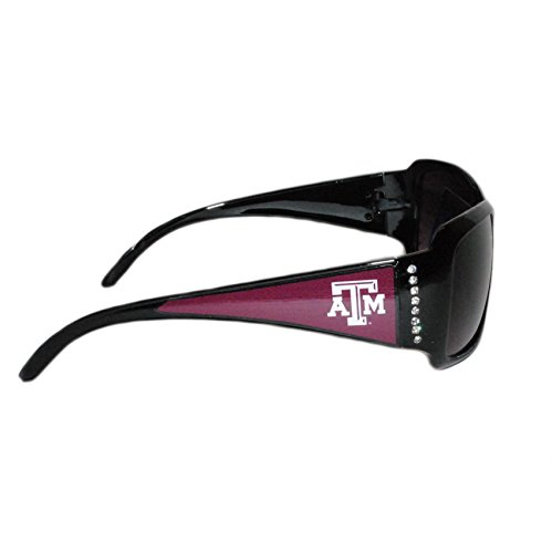 Texas A&M Aggies Black Sunglasses with Logo and Crystal Clear Rhinestones for - M Sunglasses Logo