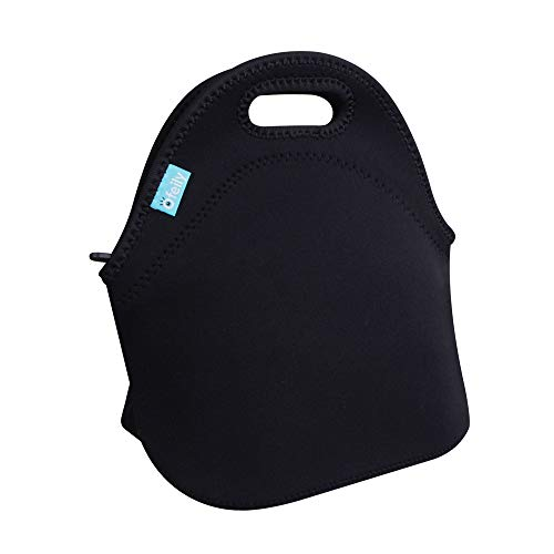 Lunch Tote, OFEILY Lunch boxes Lunch bags with Fine Neoprene Material Waterproof Picnic Lunch Bag Mom Bag (Black)