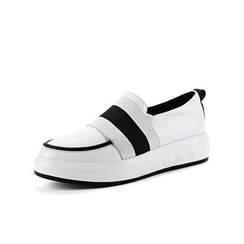 donna nero Black Sneakers Fall poliuretano rosso Scarpe piatto Tacco Comfort ZHZNVX PU da aHEngOaZ