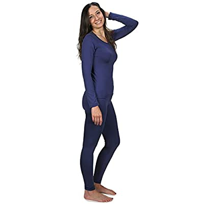 Women's Ultra Soft Thermal Underwear Long Johns Set with Fleece Lined at Women's Clothing store