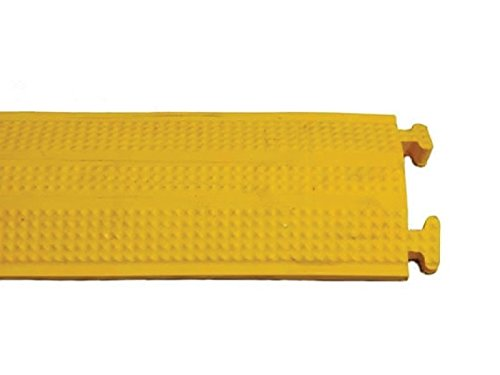 Medium-Duty Rubber Drop Over Cord Covers -(One Channel 60'' Long, Yellow) by Kable Kontrol