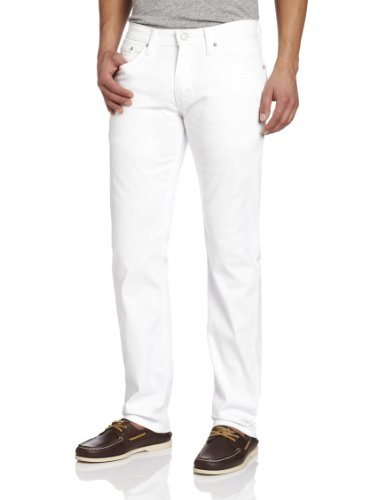 White Levi Jeans (Levi's Men's 514 Straight fit Stretch Jean,  White Bull Denim, 36x32)