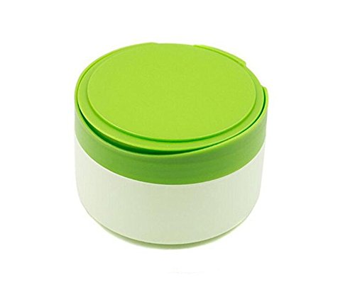 Green Plastic Empty Portable Baby Skin Care After-Bath Powder Puff Talcum Powder Case Container Dispensor Make-up Loose Powder Box Holder Bottle Container Travel Kit with Powder Puff and Sifter