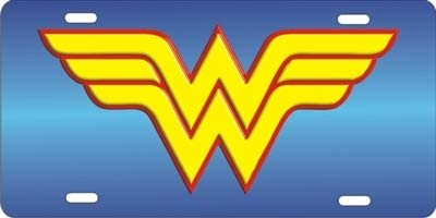 ATD Wonder Woman Logo Personalized Novelty Front License Plate Custom Vanity Decorative Aluminum car tag