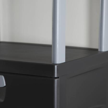 Sterilite 4-Drawer Cabinet ,Actual Color: Black