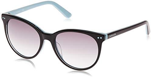 Calvin Klein Women's CK18509S 5518 (004) BLACK/LIGHT BLUE Sunglasses