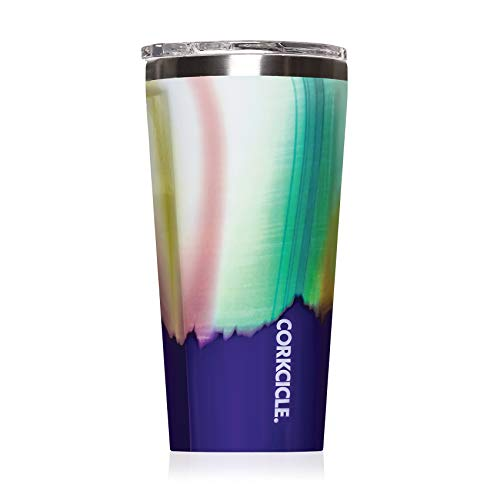 Corkcicle Tumbler - Classic Collection - Triple Insulated Stainless Steel Travel Mug, Aurora, 16 oz