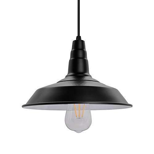 Lámpara de techo colgante industrial retro, lámparas de techo, luces de hierro negro, para estudio de sala de estar de restaurante, bombilla E27 Edison, iluminación blanca cálida de 5 vatios a buen precio