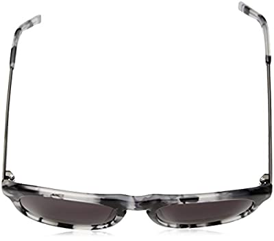 Calvin Klein Men's Ck4320s Oval Sunglasses, Grey Havana, 54 mm