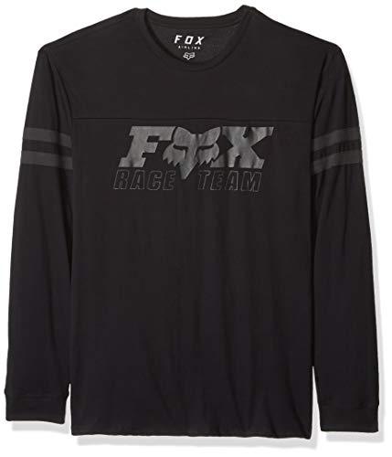 - Fox Men's Race Team Long Sleeve Airline Premium T-Shirt, Black, S