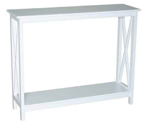 Decorative Console Table, Country accent table with 1 shelf, Modern Country Design, White Lacquered by Phoenix smart living furniture