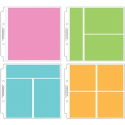 Bulk Buy: Doodlebug Designs (2-Pack) Page Protector Assortment 8in. x 8in. 12/Pkg 3 Each Of All 4 Styles DB3501 (Each Design)