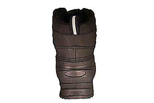 Zanco Mens Extra Breda Bredd Vattentäta Svarta Läderstövlar # 3701