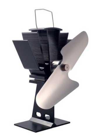 Ventilador para el calor que emiten las estufas de leña. Respetuoso con el medio ambiente, se mueve gracias al aire caliente: Amazon.es: Hogar
