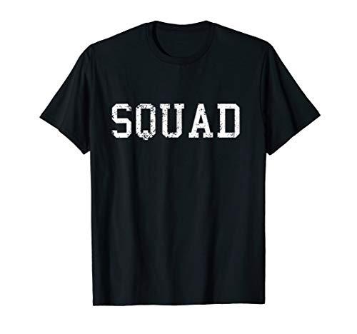 Shirt That Says Squad Tee Funny Cool Print Graphic Tshirt ()