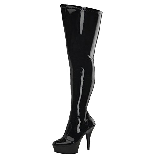 Pleaser - Sexier Than Ever Plateau Overknee Stiefel Delight-4000