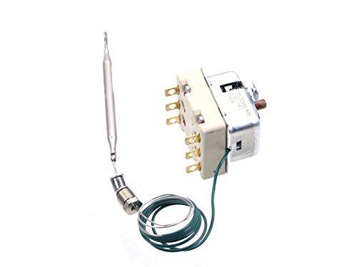 Thermostat de sécurité EGO pour friteuse Mbm de Italia, emmepi, eberhardt–20A 3pôles t. Max 225°C kapillarr ohrl Longueur 900mm CNS de sonde Ø 6x 94mm Robinets M10x
