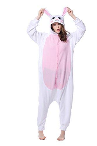 LINGJUN - Pijama - para mujer Conejo Blanco