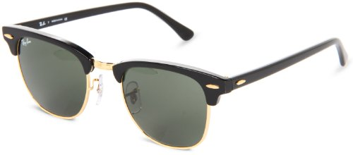 Ray-Ban Clubmaster Sunglasses - Ebony Arista / G-15 - Ban Ray Clubmaster Sunglasses