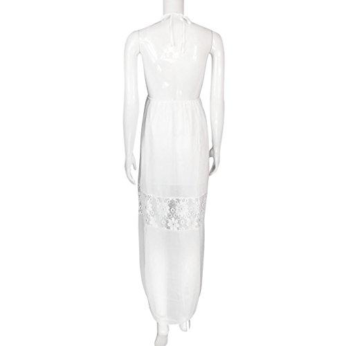 vovotrade Las mujeres de encaje hueco verano Boho largo Maxi vestido de fiesta vestido de playa sundress